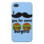 ¡Bigote I usted para algunas hamburguesas! iPhone 4/4S Fundas