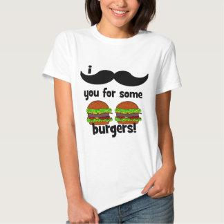 ¡Bigote I usted para algunas hamburguesas! Poleras