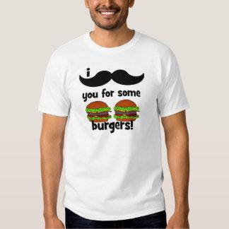 ¡Bigote I usted para algunas hamburguesas! Remeras