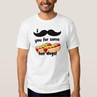 ¡Bigote I usted para algunos perritos calientes! Camisas