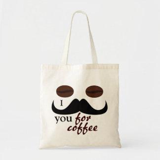 Bigote I usted para el bolso de café