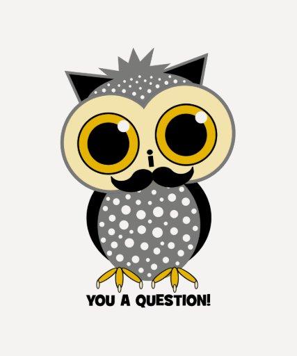 Bigote I usted un búho de la pregunta Camisas