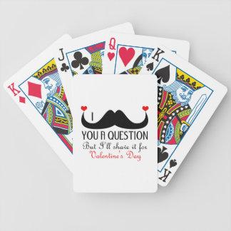 Bigote I usted un el día de San Valentín de la pre Baraja Cartas De Poker