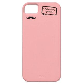 bigote i usted un mini rosa de la pregunta iPhone 5 carcasa