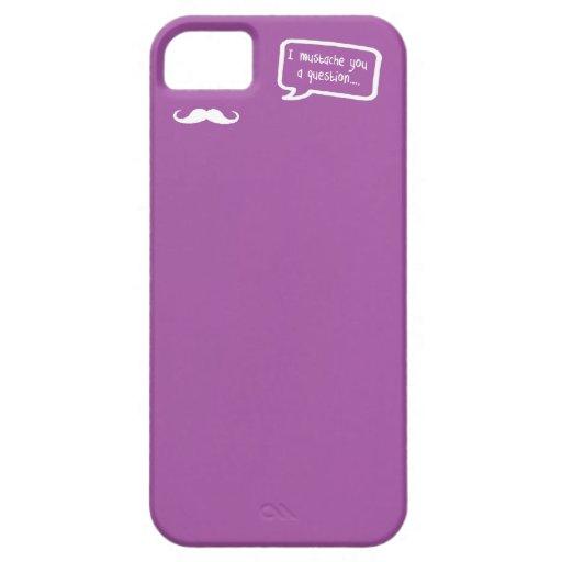 bigote i usted una mini púrpura de la pregunta iPhone 5 carcasas