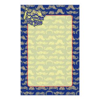 Bigote I usted una pregunta azul y amarilla Papeleria De Diseño