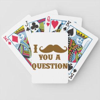 Bigote I usted una pregunta Barajas De Cartas