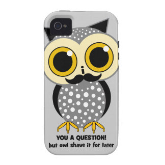 Bigote I usted una pregunta iPhone 4 Funda