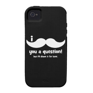 Bigote I usted una pregunta Vibe iPhone 4 Carcasa