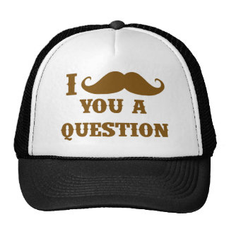 Bigote I usted una pregunta Gorras