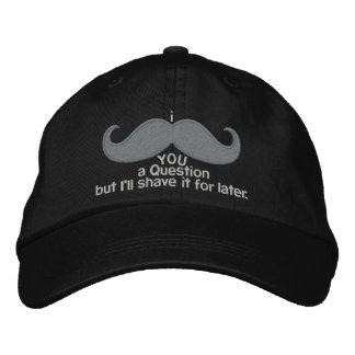 bigote i usted una pregunta gorra bordada