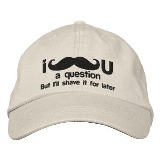 bigote i usted una pregunta gorras de béisbol bordadas