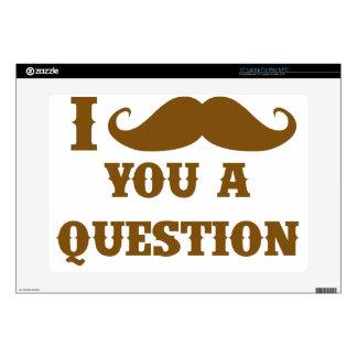 Bigote I usted una pregunta Portátil Calcomanía