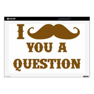 Bigote I usted una pregunta Calcomanías Para 43,2cm Portátiles