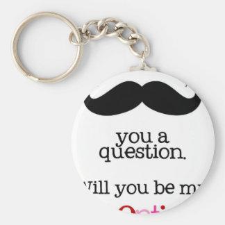 bigote i usted una pregunta llavero redondo tipo pin