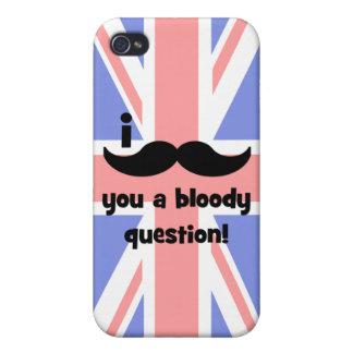 Bigote I usted una pregunta sangrienta iPhone 4/4S Carcasas