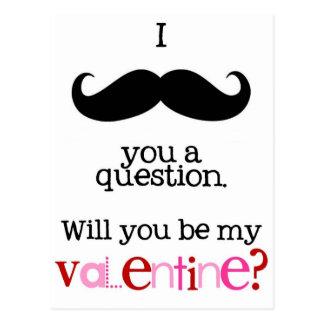 bigote i usted una pregunta tarjeta postal