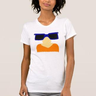 Bigote incógnito y camiseta para mujer del jersey