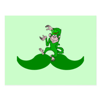 Bigote irlandés del mono postales