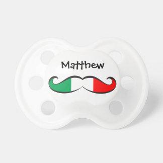 Bigote italiano personalizado de la bandera chupete de bebe