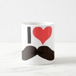 Bigote lindo del corazón I Taza De Café