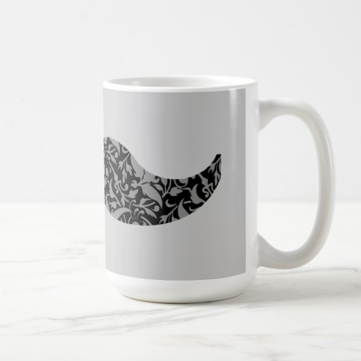 bigote lindo del damasco taza clásica