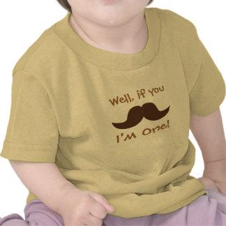 Bigote lindo, soy uno, primer cumpleaños camisetas