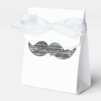 Bigote negro cajas para regalos de boda