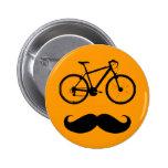bigote negro de la bici pins