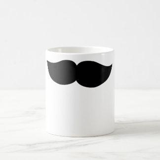 Bigote negro de lujo taza de café