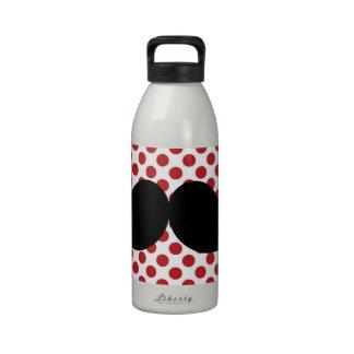Bigote negro del manillar botellas de beber
