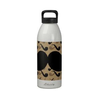 Bigote negro del manillar en modelo del tubo botella de beber
