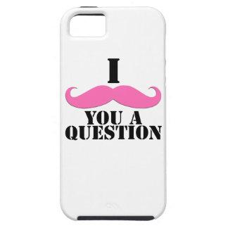 Bigote negro del rosa I usted una diversión de la  iPhone 5 Case-Mate Cárcasas