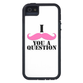 Bigote negro del rosa I usted una diversión de la  iPhone 5 Protectores