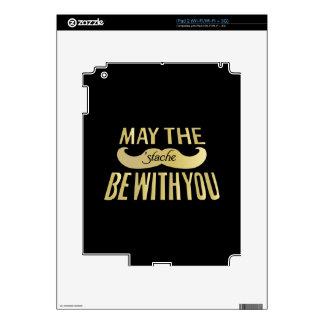 Bigote negro divertido - mayo el Stache esté con u Calcomanías Para iPad 2