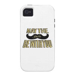 Bigote negro divertido - mayo el Stache esté con u Vibe iPhone 4 Carcasas