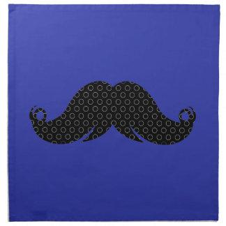 Bigote negro en fondo azul servilleta