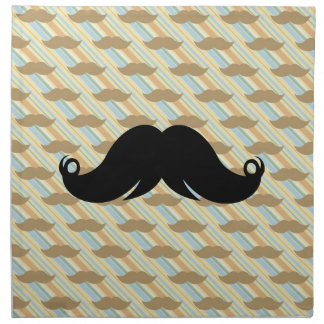 Bigote negro enrrollado retro del bigote del manil servilletas