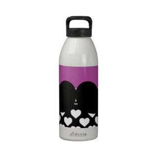 Bigote negro enrrollado retro del manillar botellas de agua reutilizables