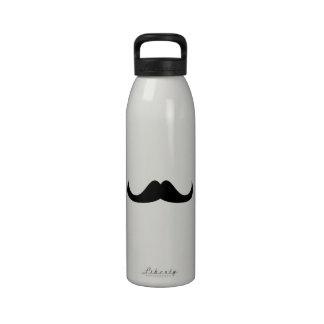 Bigote negro fresco adaptable del manillar botella de agua reutilizable