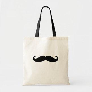Bigote negro o bigote negro para los regalos de la bolsas lienzo
