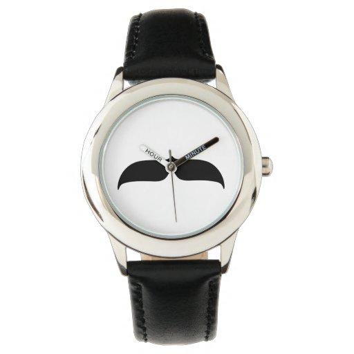 Bigote negro relojes de mano