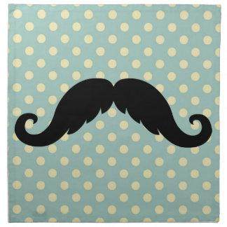Bigote negro retro del bigote del manillar servilleta