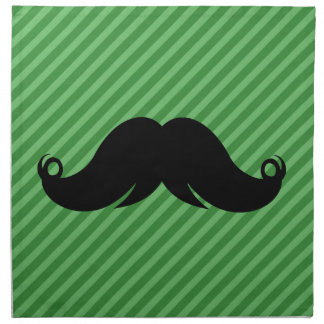 Bigote negro retro del bigote servilleta imprimida