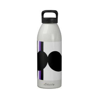 Bigote negro retro del manillar botella de beber