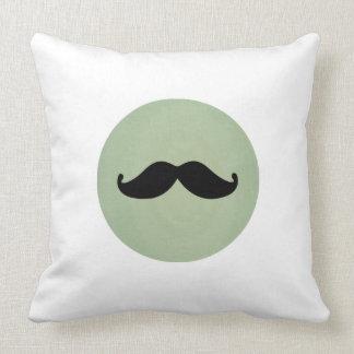 Bigote negro retro del vintage en verde menta lame almohadas