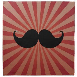 Bigote negro retro Stache del bigote del manillar Servilletas Imprimidas