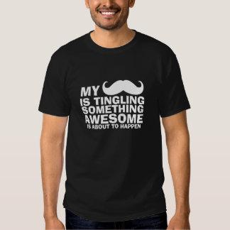 Bigote oscuro el zumbar de la camiseta del bigote remeras