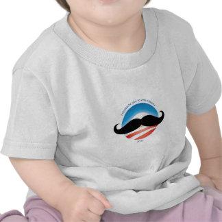 Bigote para Obama - 2012 Camiseta