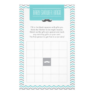 Bigote/pequeña tarjeta de juego del bingo de la  papeleria